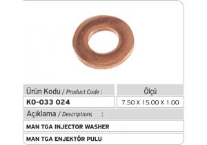 1.00 mm Common Rail Enjektör Bakır Pul