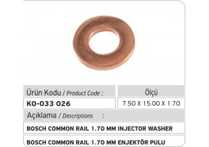 1.70 mm Common Rail Enjektör Bakır Pul