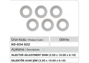 Enjektör Ayar Şimi (3.50X10.00X0.10 mm)