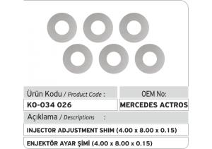 Enjektör Ayar Şimi (4.00X8.00X0.15 mm)