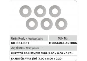 Enjektör Ayar Şimi (4.00X8.00X0.20 mm)