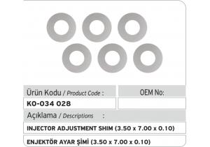Enjektör Ayar Şimi (3.50X7.00X0.10 mm)