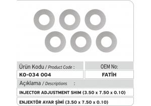 Enjektör Ayar Şimi (3.50X7.50x0.10 mm)